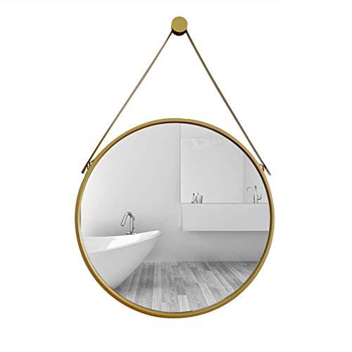 Diverse mirror Espejo Brillante Baño de Belleza Espejo, Espejo del Metal Espejo Redondo Decorativo del Hotel Bar de Pared Simple Espejo de Hierro Forjado Accesorios for el hogar Maquillaje y E