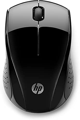 HP Wireless Maus 220 Chrome Edition (kabellos, Links- und Rechtshänder) schwarz