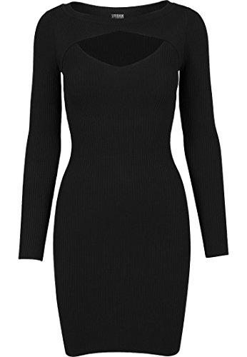 Urban Classics Damen Ladies Cut Out Dress Kleid, Schwarz (Black 7), Medium