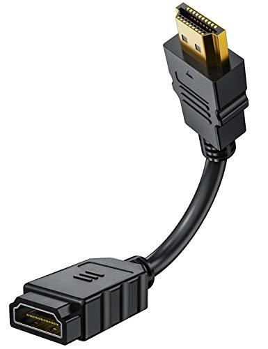 HDMI ケーブル Fire TV Stick用 オスメス 延長 15cm 4K 短い wuernine PS3 PS4 テレビ PC モニター ファイアースティックなど用