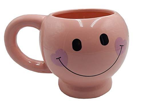 Pink Smiley Face Mug - Happy Face Coffee Mug Smiley Cup