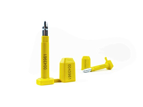 10 Stück Containerplomben im Set Sicherheitsplomben, nach ISO/PAS 17712:2013, High Security Seal HSS, hochwertige Plomben für Container, gelb