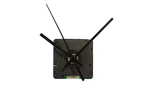 TFA Dostmann Funk-Uhrwerk mit Uhrzeigerset, Uhrwerk für Wanduhr, zum Basteln, Funkuhr, schwarz, 60.3518.01