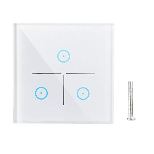 Asixxsix Interruptor de Pared, Control táctil Capacitivo de sincronización AC 100-250V Interruptor de Pared Inteligente Duradero, Consola Firme para Dispositivos electrónicos Accesorios de Seguridad