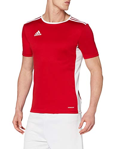 Adidas Entrada 18 - Playera para niño, rojo Power/blanco, Large