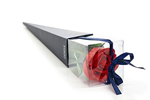 Ancient Wisdom Seifenrose Rose aus Seife Geschenk für Valentinstag oder Hochzeit Seifenblume Rot
