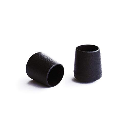 Ronde punten zwart Ø 20 mm 4 stuks