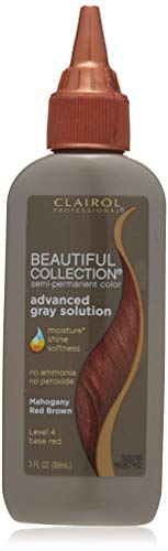 Clairol Beautiful Collection Advanced Gray Solution Hair Color, 3 fl oz -Mahogany Red Brown
