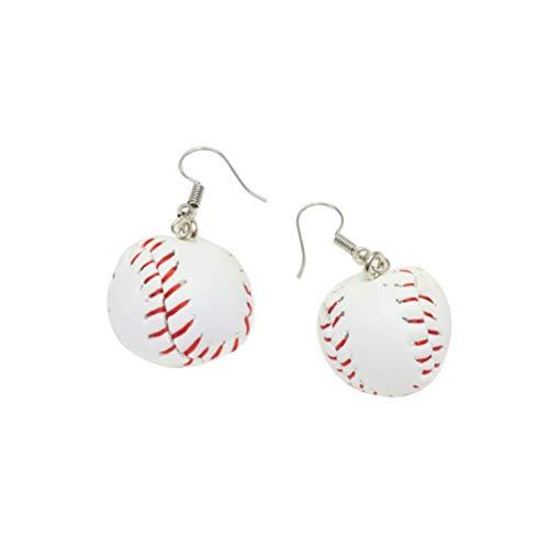 Holibanna Baseball Ohrringe 3D Aussage Schmuck Kreativer Sportball Anhänger Ohrring 1 Paar