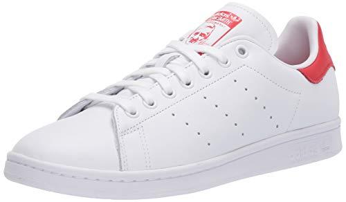 adidas Originals mens Stan Smith Sneaker, Footwear White/Footwear White/Lush Red, 4 US