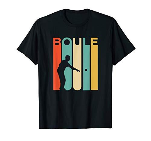 Vintage Retro Boule T-Shirt für Mannschaften des Boulesports