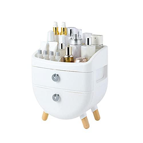 Caja de Cosmética de escritorio de pie de madera, Tipo de cajón Cuidado de la piel Estante de productos, Caja de almacenamiento de tocador de capas-Segunda planta