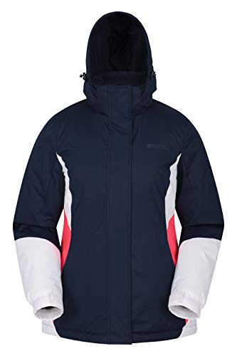 Mountain Warehouse Moon Womens Ski Jacket - Warm Winter Snow Coat Dark Blue 6