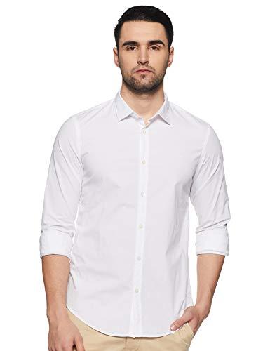 GAS JEANS ANDREW/8 NEW 0001 Camicia uomo maniche lunghe cotone logo ricamato slim fit Uomo