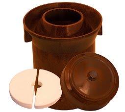 10 L FORM 1 (2.6 Gal) K&K Keramik German Made Fermenting Crock Pot Kerazo F1