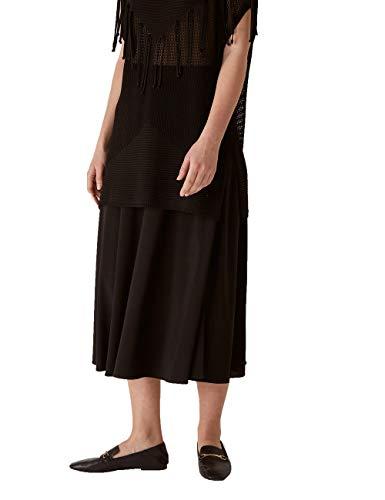 Elena Mirò : Falda vaporosa de Tejido de Punto Negro 39 Mujer