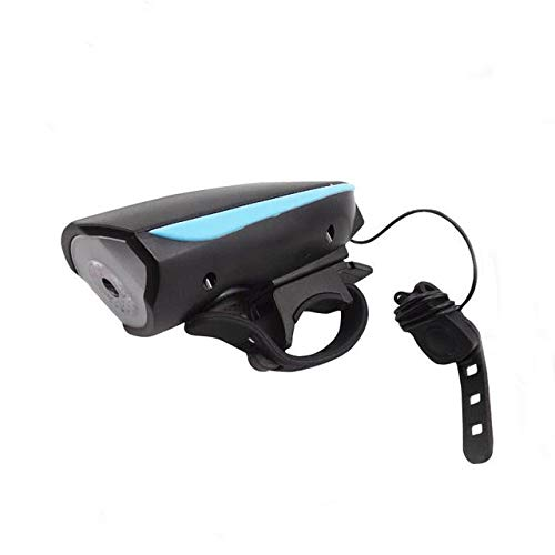 2 In 1 Led-Fahrradleuchte Mit Elektrischer Glocke Zittert Summer Hornschalter Fahrrad Fahrradleuchte Batterie Eingebaute USB-Aufladung