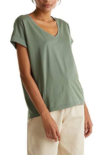 edc by Esprit 030CC1K318 T-Shirt, Damen, Grün XL