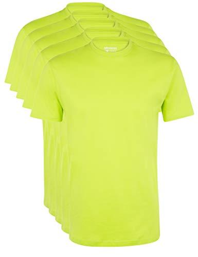 Ultrasport Herren Sport Freizeit T-Shirt mit Rundhalsausschnitt 5er Set, Grün, M