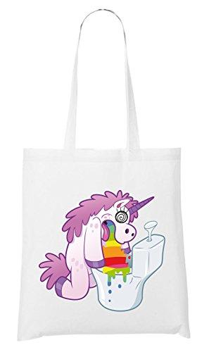 Certified Freak Hurling Unicorn Bolsa Blanco