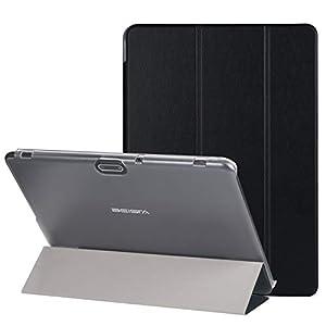 BEISTA Cover Custodia Protettiva Case Universale in Pelle PU Adatto per LNMBBS Tablet 10 Pollici,YOTOPT Tablet 10.1 Pollici 10 Pollici Tablet-Nero