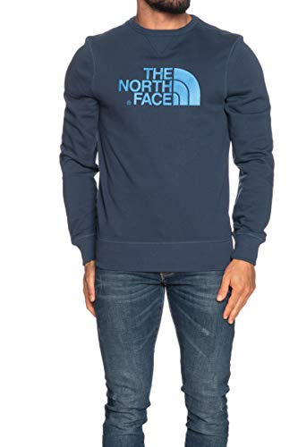The North Face Drew Peak Crew Light, Felpa Girocollo Uomo Leggera (XL, Blue Wing Teal)