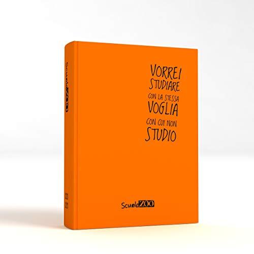 ScuolaZoo Agenda Diario Scolastico 2020-2021 con Meme divertentissimi e Tanti Adesivi, Disponibile in 6 Colori e 2 Dimensioni (Arancione Fluo, Classic)