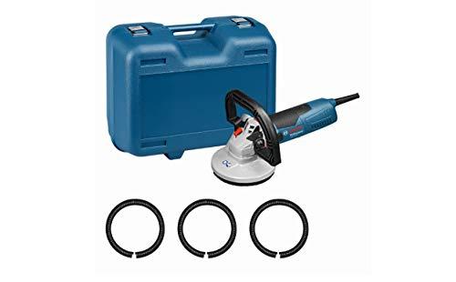 Bosch Professional GBR 15 CA - Lijadora de hormigón (1500 W, Ø 125 mm, cubierta anti-polvo, en maletín)