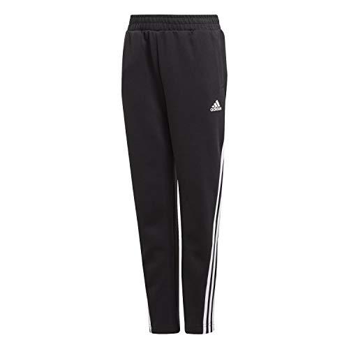 adidas Jungen 3-Streifen Doubleknit Tapered Leg Hose, Black/White, 164