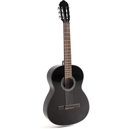 NAVARRA special dark moon NV142, guitarra clásica 4/4, negro