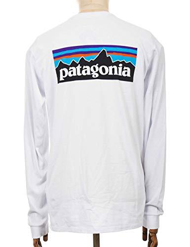 Patagonia M's L/S P-6 Logo Responsibili-Tee Herren Langarmshirt L weiß