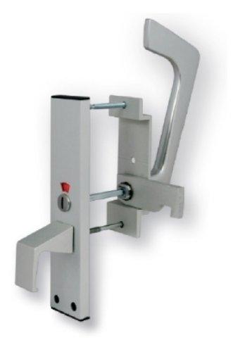 Carlisle Brass EST9625SAA Eurospec Disabled Toilet Handle Set, Satin Anodised Aluminium