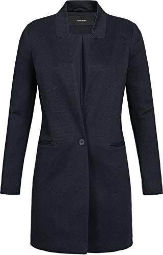 VERO MODA Damen Long Feinstrick Blazer June 10199223 Black 38