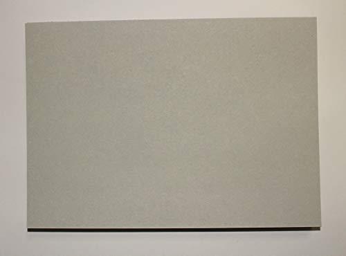 25 Stück Graukarton Format DIN A3 (297 x 420 mm) 0,5mm starke Graupappe Sonderformate des Maschinengraukartons ist auf Anfrage möglich