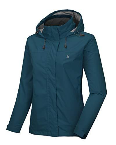 Little Donkey Andy Women's Waterproof Rain Jacket Lightweight Outdoor Windbreaker Rain Coat Shell for Hiking, Travel Mosaic Blue L