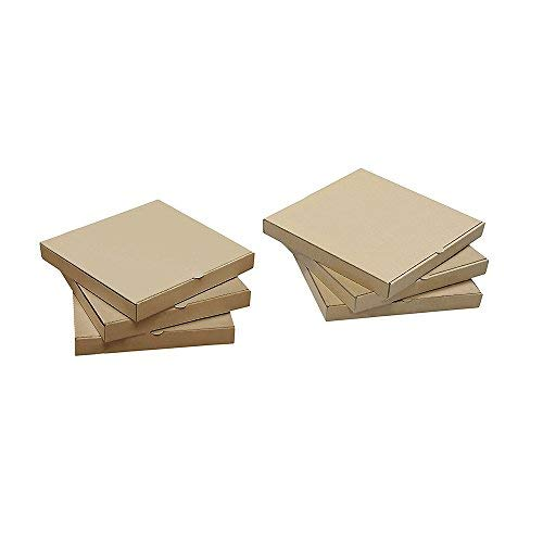9 inches Premium Kraft Corrugated Pizza Boxes Take Out Containers Pizza Paperboard Box Takeaway Cardboard Takeaway Fast Food Postal Packaging Boxes (Pack of 10)