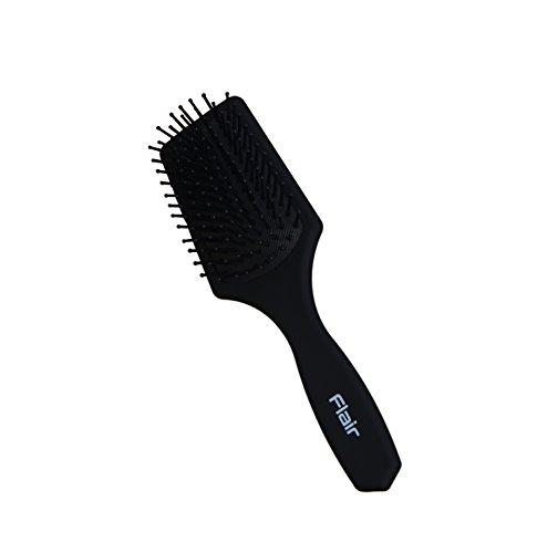 Flair F84 Brosse à cheveux pour homme avec manche en caoutchouc souple et picots en nylon