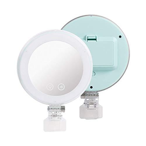 YN-08 - Lampada per fotocamera portatile con mini clip per selfie, a LED, con anello luminoso per fotocamera e smartphone (dimensioni: 15,2 x 10,5 x 3,5 cm, colore: Green)