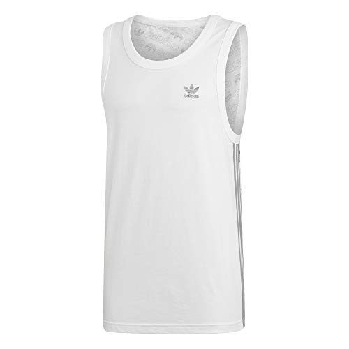 adidas Monogram Camiseta Tirantes (Tank Top) Hombre Blanco