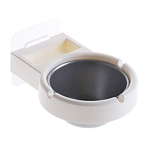 FBGood Wandaschenbecher – Wandaschenbecher für Badezimmer mit Saugnapf-WC, Zigarettendose zum Aufhängen für Bar in der Küche im Badezimmer (weiß)