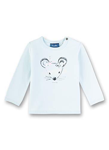 Sanetta Baby-Mädchen Sweatshirt, Blau (Blau 5259), 86 (Herstellergröße: 086)
