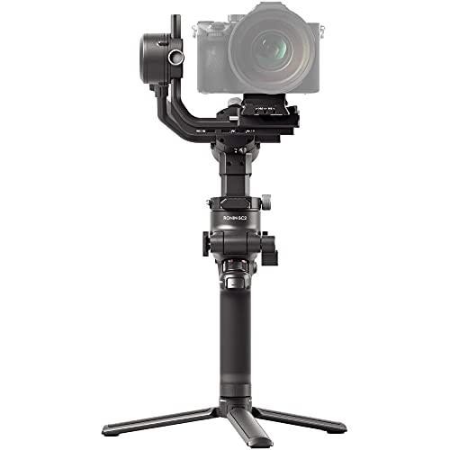 DJI RSC 2 - 3-Achsen-Stabilisator-Gimbal für spiegellose und DSLR-Kameras, Nikon Sony Panasonic Canon Fujifilm, Ronin SC, 3kg Zuladung, Porträtmodus, Touchscreen - Schwarz, Einheitsgröße