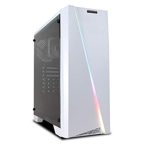 dcl24.de [11959] Gaming PC RGB Cylon weiß AMD Ryzen 3-3200G 4x3.6 GHz - 240GB SSD & 1TB HDD, 16GB DDR4, GTX1650 Super 4GB, WLAN, Windows 10 Pro Spiele Computer Rechner