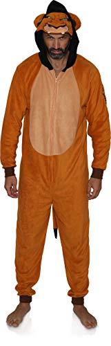 Disney Men's Lion King Scar The Villain Onesie Pajama (Small/Medium) Brown