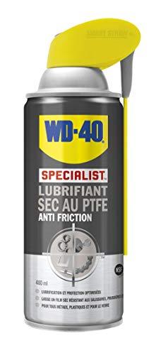 WD-40 Specialist • Lubrifiant Sec Au PTFE • Spray Double Position • Anti Friction • Lubrifie en laissant un film sec • Compatible tous métaux, plastique et verre • 400 ML, 1 unité