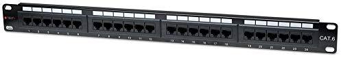 Techly Professional 022892 Pannello Patch UTP 24 Posti RJ45 Cat.6 Techly Nero