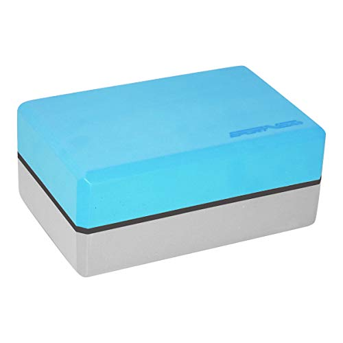 Yoga Block aus Eva-Schaum - Zweifarbig Yogablöcke - Yogaklotz Zubehör für Übungen - Hilfsmittel für das Training - Sportzubehör zuhause - Joga Klotz (Blau)