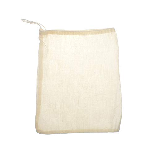 LARATH 20 Pieces Reusable Strainer Bags Tea Coffee Soup Spices Cheesecloth Bag Food Straining Cloth Bags Linen Cotton Mesh Filter Bags with Drawstring for Home Kitchen, Beige