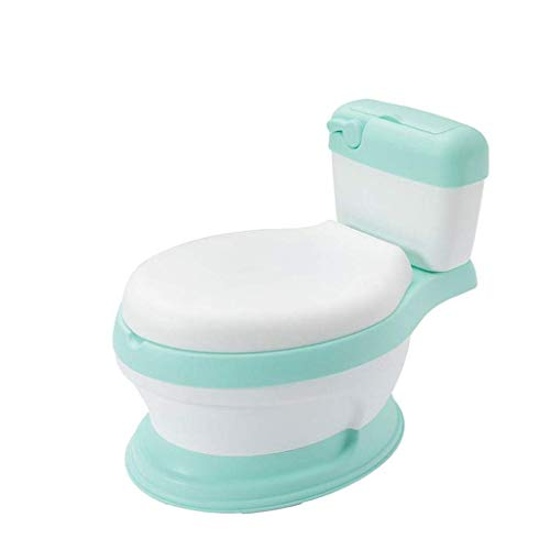 Children Potty Training Toilet Seat, My Size Potty Train and Transition,Realistic Potty Training Toilet Looks and Feels Like an Adult Toilet – Includes Removable Potty Topper,Easy to Empty and Clean