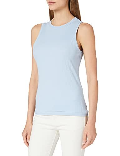 Vero Moda VMLAVENDER SL Top VMA Noos Camiseta sin Mangas, Color Azul, L para Mujer